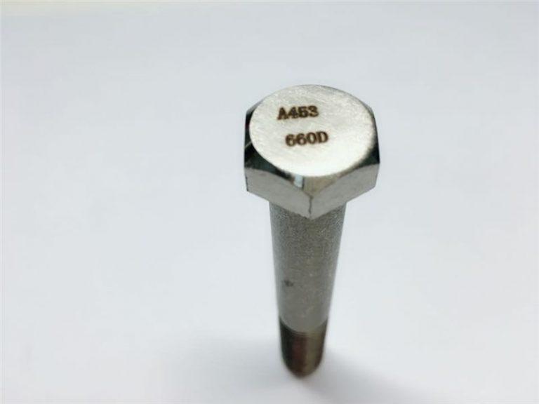 מחברים באיכות גבוהה a286 astm a453 660 en1.4980 מתקני בורג למכונת חומרה