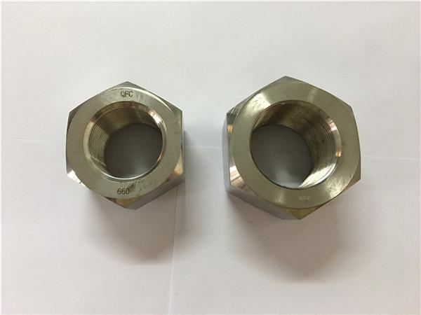 ייצור סגסוגת ניקל a453 660 1.4980 אגוזי הקס